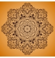 Ornamental round lace pattern is like mandala 2 vector image