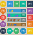 piano key icon sign Set of twenty colored flat vector image