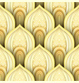 seamless pattern with gold ethnic motifs vector image