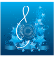music background with decorative treble clef vector image