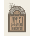 restaurant music vector image vector image