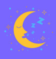 icon for children in the form of the moon vector image