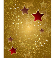 gold foil with stars vector image vector image