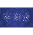 Abstract sacred geometry symbols set vector image