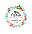 greeting card happy new year and merry christmas vector image