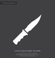 knife premium icon white on dark background vector image