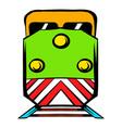 locomotive icon cartoon vector image