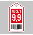 Price tag red vector image