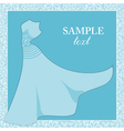 Bride gown Wedding theme background vector image vector image