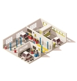 isometric low poly car service center vector image