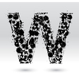 Letter W formed by inkblots vector image vector image