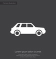 car premium icon vector image