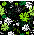 floral seamless dark pattern vector image