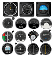aircraft instruments vector image