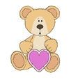 Teddy Bear is sitting with heart vector image