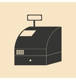 Flat in black and white cash register vector image