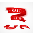 Red paper sale ribbon vector image