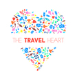 Travel Heart 2 vector image