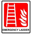 Fire ladder sign emergency symbol vector image