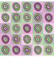 flower abstract patterns in the squares vector image