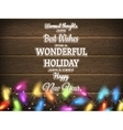 Vintage Christmas planked wood with lights EPS 10 vector image