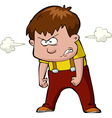 enraged child vector image