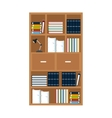 furniture office library bookshelf lamp vector image