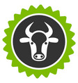 beef certificate seal flat icon vector image