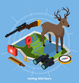 hunting isometric concept vector image
