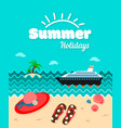 summer holiday poster template vector image