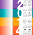 2014 Color Stripes Calendar vector image