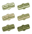 Labels set for organic products vector image