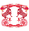 2015 year of the goat Chinese Mid Autumn festival vector image
