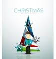 Happy businessman and stylized Christmas tree vector image