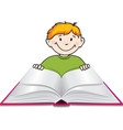 child reading vector image vector image
