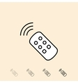 icon of remote control vector image vector image