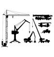 Building technique silhouettes vector image