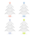Origami christmas trees vector image