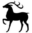 standing deer vector image vector image