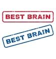 Best Brain Rubber Stamps vector image vector image