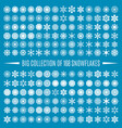 big collection snowflakes vector image