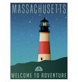 massachusetts united states travel poster vector image vector image