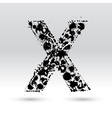 Letter X formed by inkblots vector image vector image
