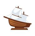 small sailboat figurine vector image