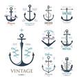 vintage retro anchor badge sign sea ocean vector image vector image