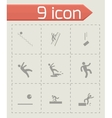 fall icon set vector image