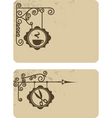 vintage coffee and barber card vector image vector image