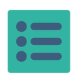 Items flat cobalt and cyan colors rounded button vector image