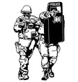 Special Police Forces vector image vector image