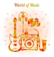 World Of Music Color Concept vector image